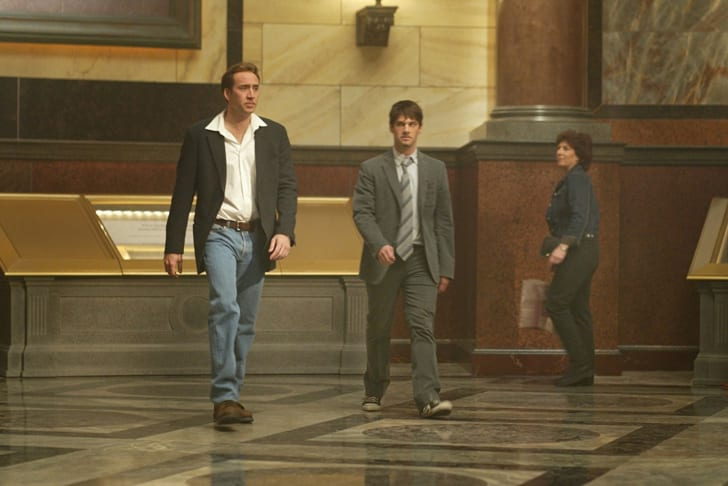 Nicolas Cage and Justin Bartha in 'National Treasure' (2004)