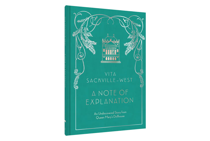 The turquoise cover of 'A Note of Explanation.'