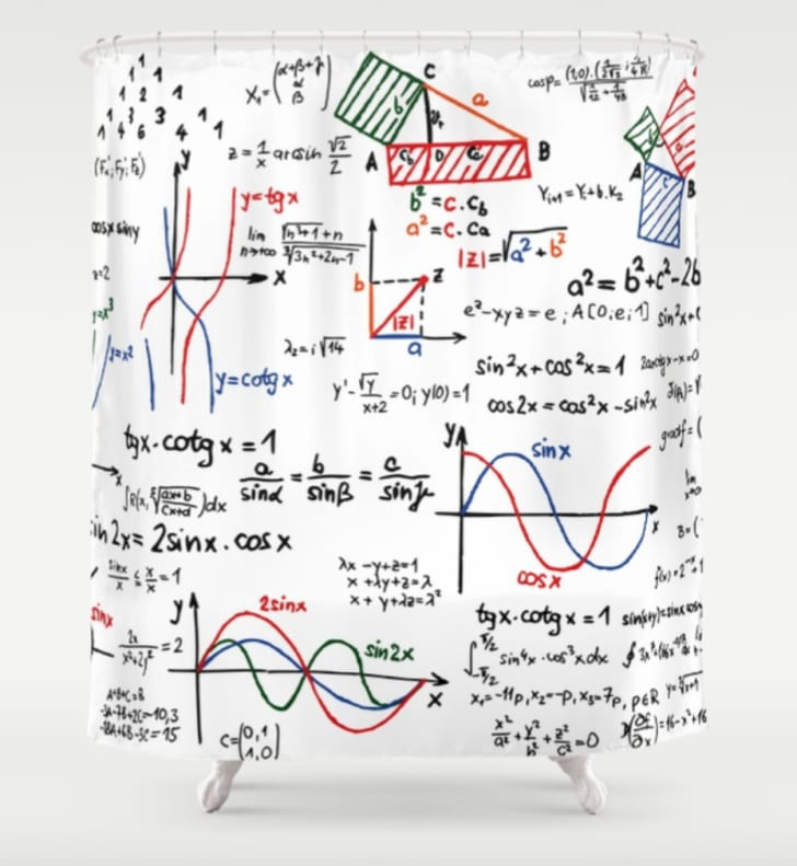 Cheat sheet shower curtain
