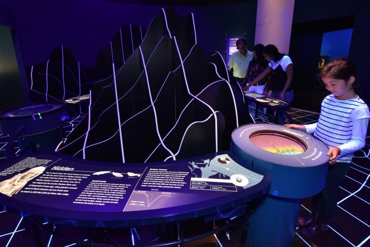 Topography exhibit in museum.