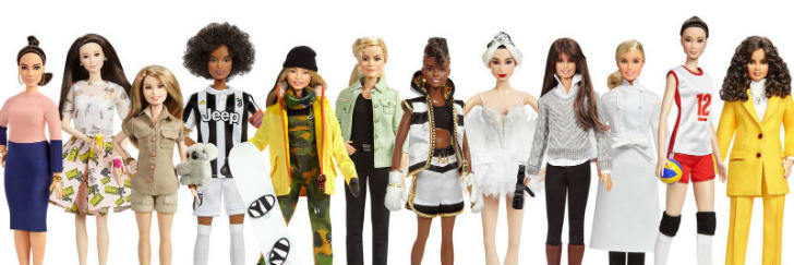 A photo of Mattel's Shero line