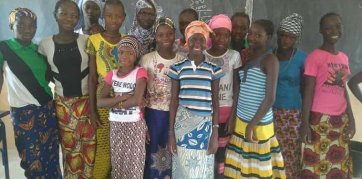 A classroom facilitated by School Girls Unite