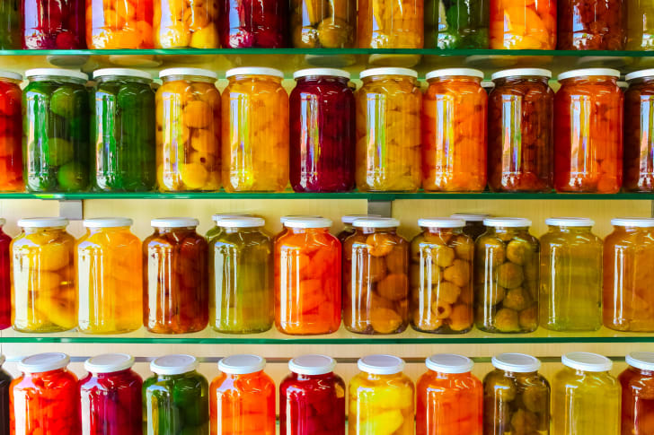 jars of canned veggies