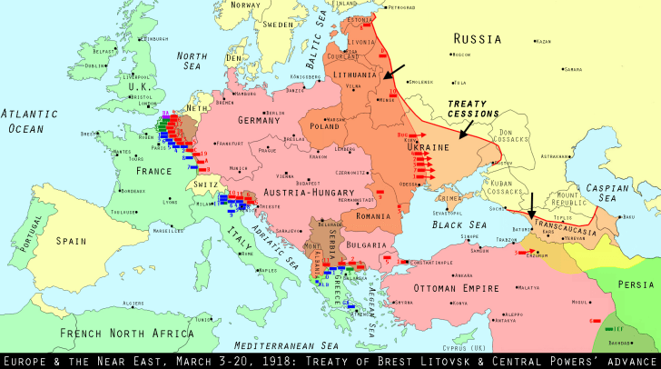 Europe on March 1, 1918