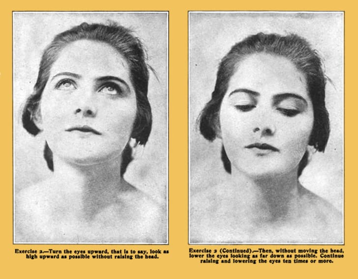 Eye exercises from Strengthening the Eyes