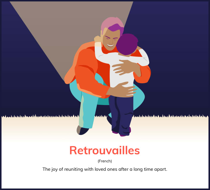 """""""Retrouvailles (French): The joy of reuniting with loved ones after a long time apart."""""""