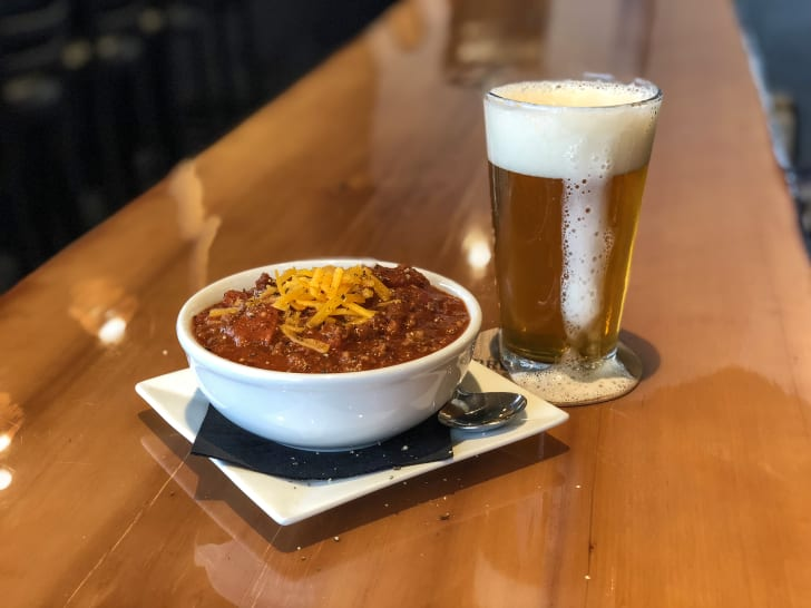 chili at Bread and Brew