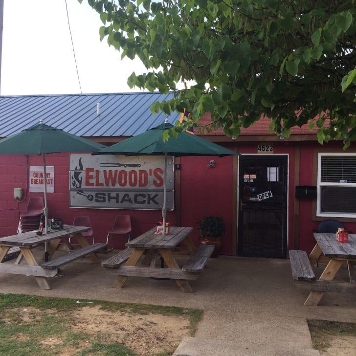 Outside of Elwood's Shack in Memphis.