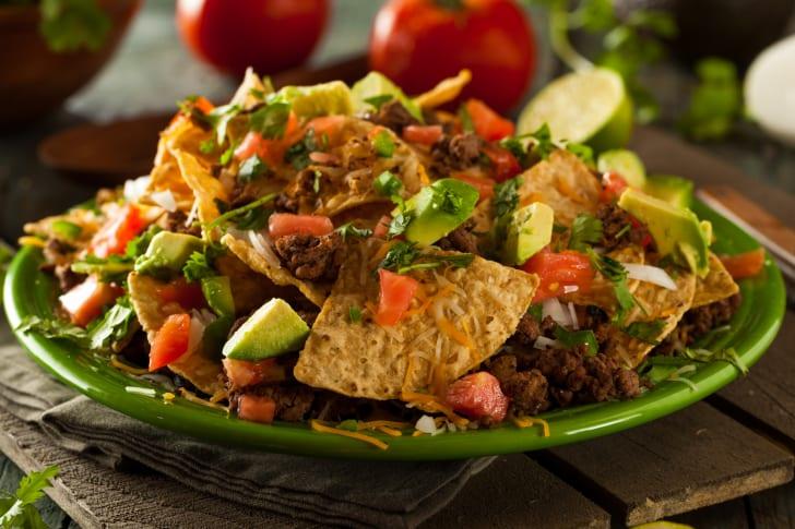 Chili on nachos.