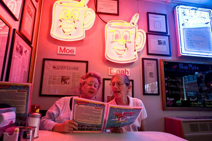Two women at the Red Arrow Diner.
