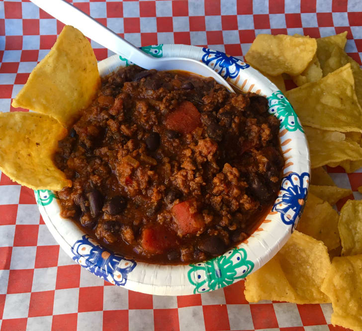 Chuck's Railroad Chili at Hole in the Wall Barbecue