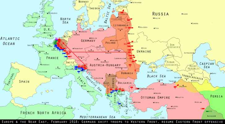 Europe, February 1918