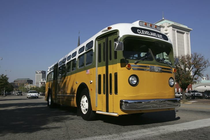 Picture of a Rosa Parks replica bus