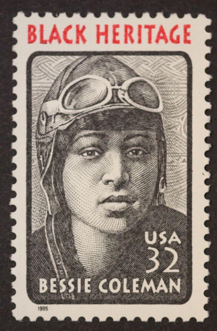 Bessie Coleman's stamp