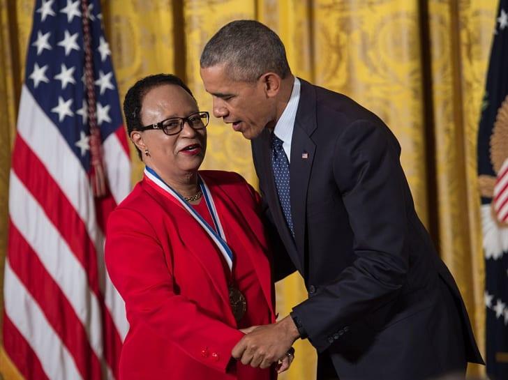 Photo of Dr. Shirley Jackson and President Barack Obama
