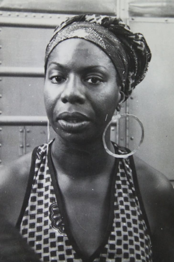 A photo of Nina Simone circa 1969