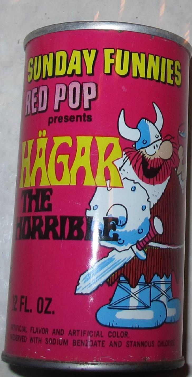 A soda can featuring Hägar the Horrible