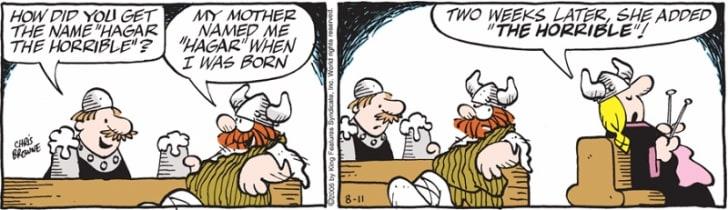 A Hägar the Horrible comic strip