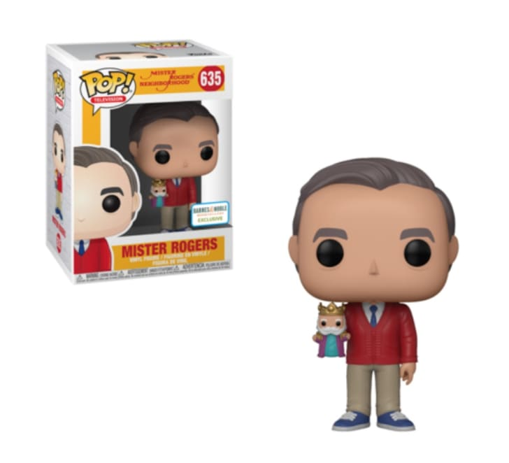 Barnes & Noble's special edition Mister Rogers Funko Pop!