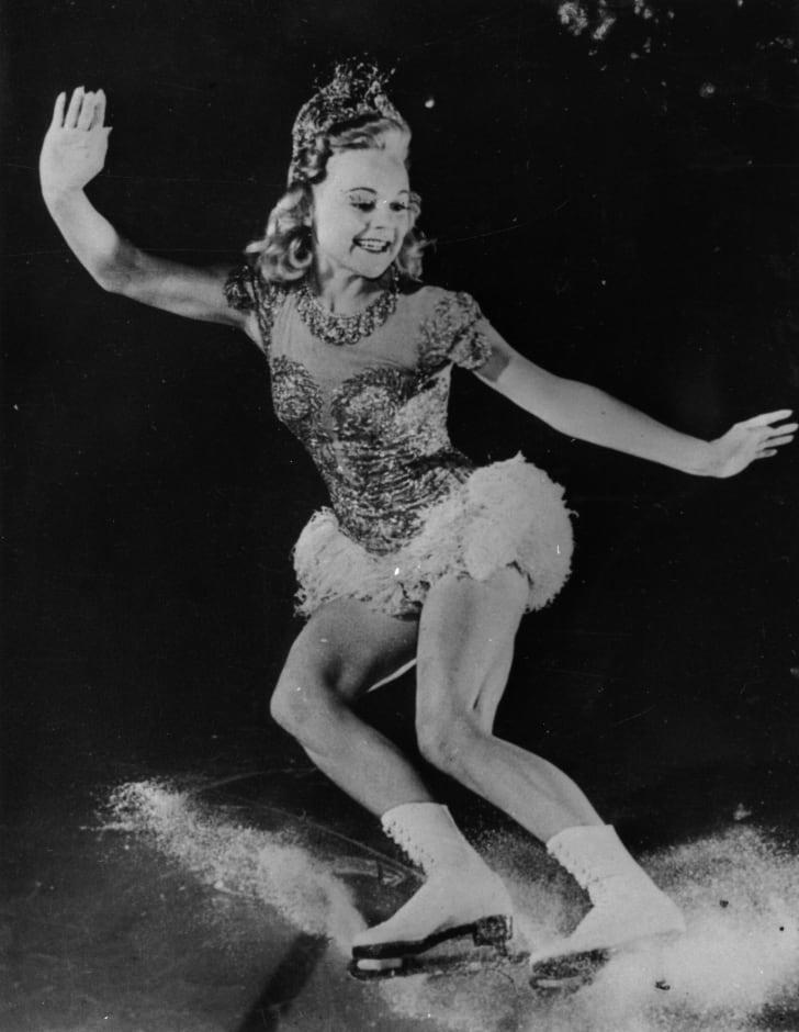 A picture of Norwegian figure skater Sonja Henie