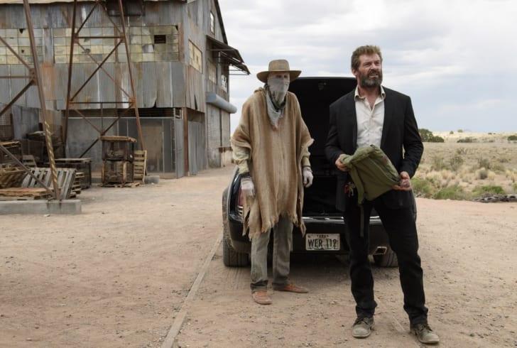 Stephen Merchant and Hugh Jackman in 'Logan' (2017)