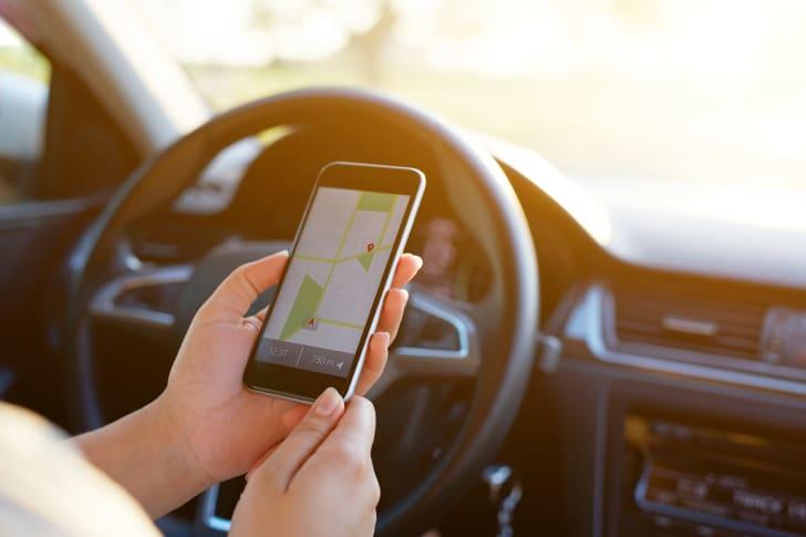 google maps on smartphone