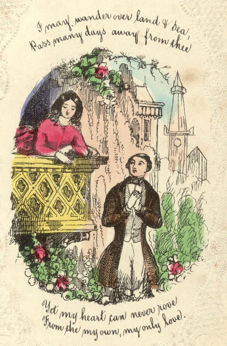 Vintage Valentine circa 1860