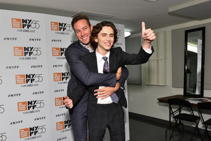 Actors Armie Hammer (L) and Timothee Chalamet attend a screening of 'Call Me by Your Name' during the 55th New York Film Festival at Alice Tully Hall on October 3, 2017 in New York City.
