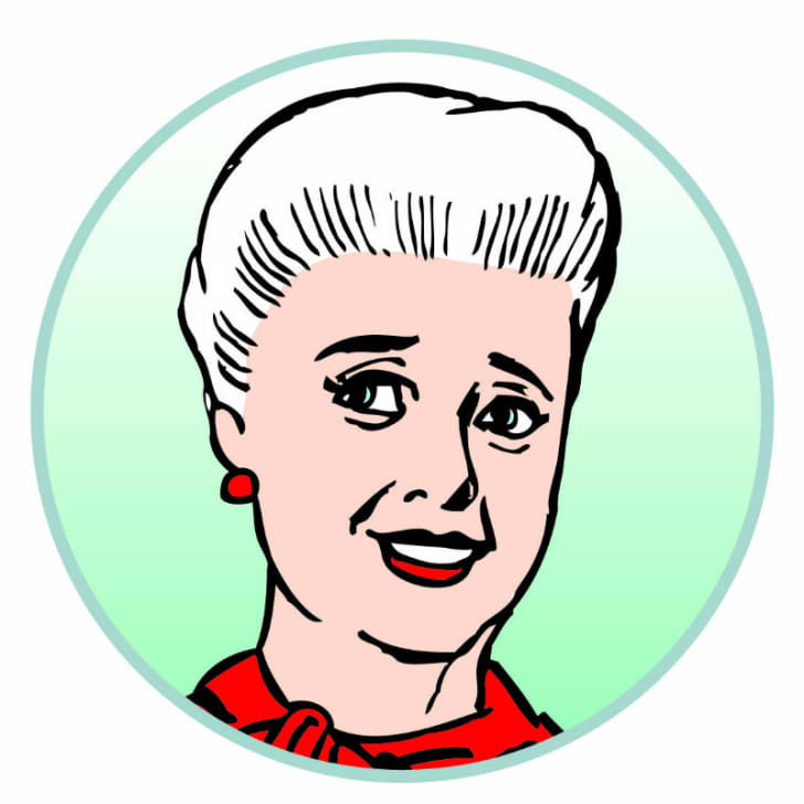 A portrait of comic strip character Mary Worth