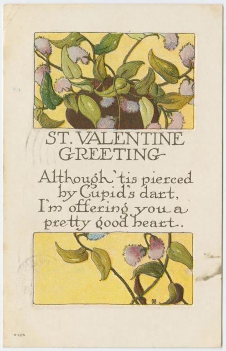 vintage Valentine circa 1920