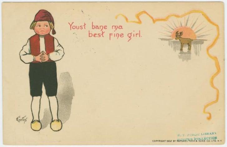 vintage Valentine circa 1902
