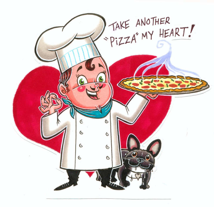 valentine with pizza