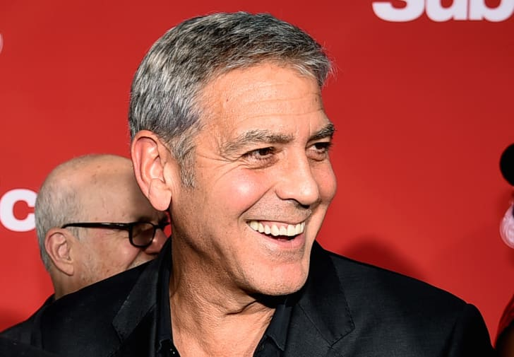 Executive producer/director George Clooney arrives at the premiere of Paramount Pictures' 'Suburbicon' at the Village Theatre on October 22, 2017 in Los Angeles, California