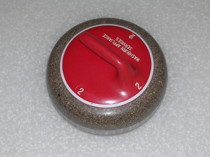 Photo of a granite curling stone