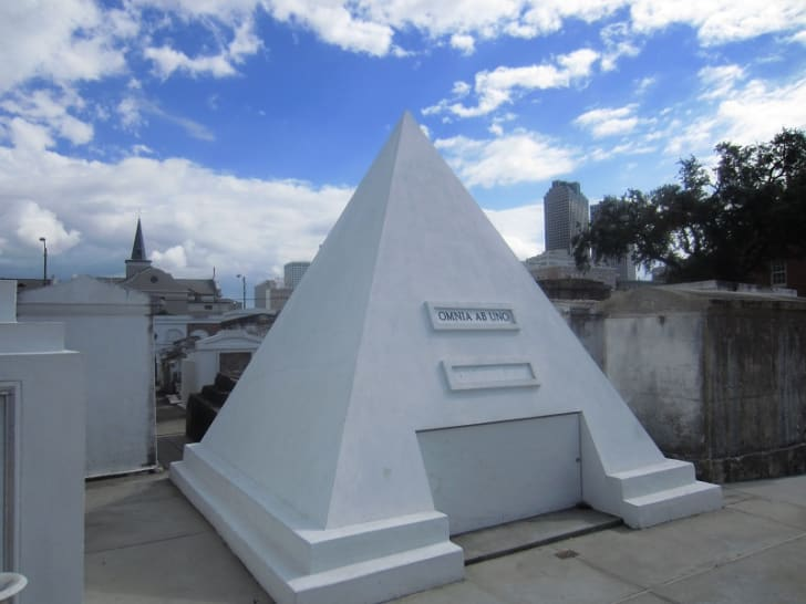 Actor Nicolas Cage's pyramid gravestone in New Orleans