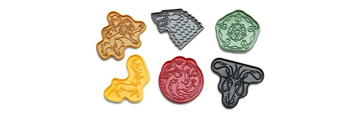 Game of Thrones House Sigil Plastic Cookie Cutters Set