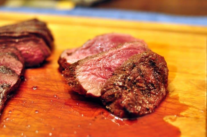 Grilled camel meat