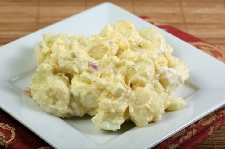 Potato salad on a plate
