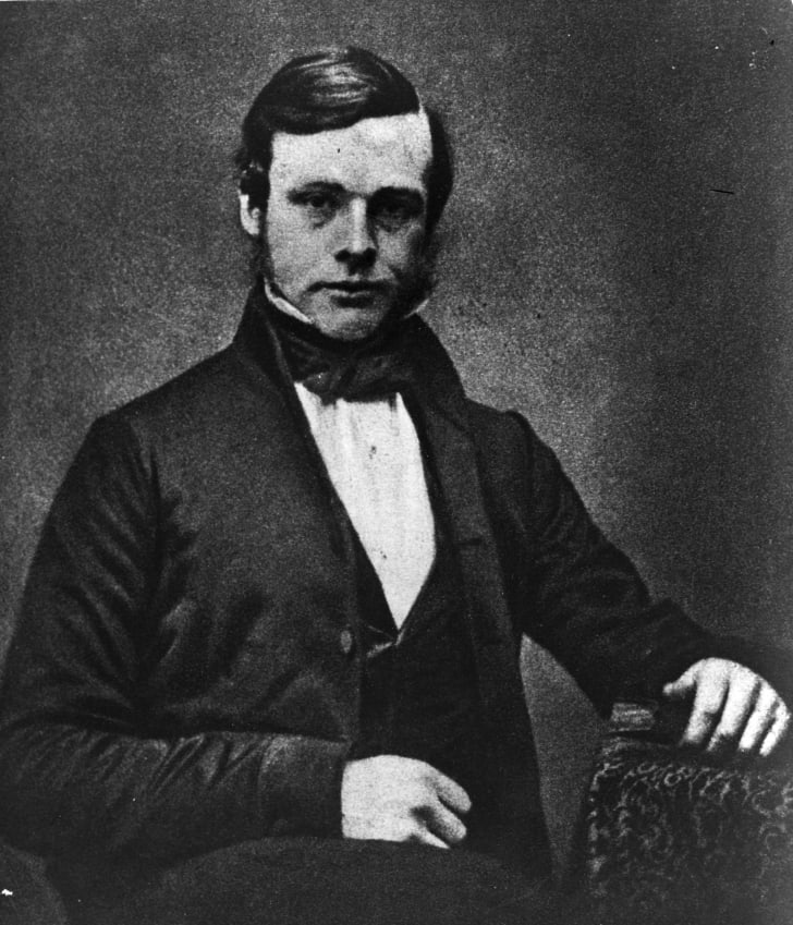 1855: British surgeon and founder of antiseptic surgery, Joseph Lister (1827 - 1912), as a young man
