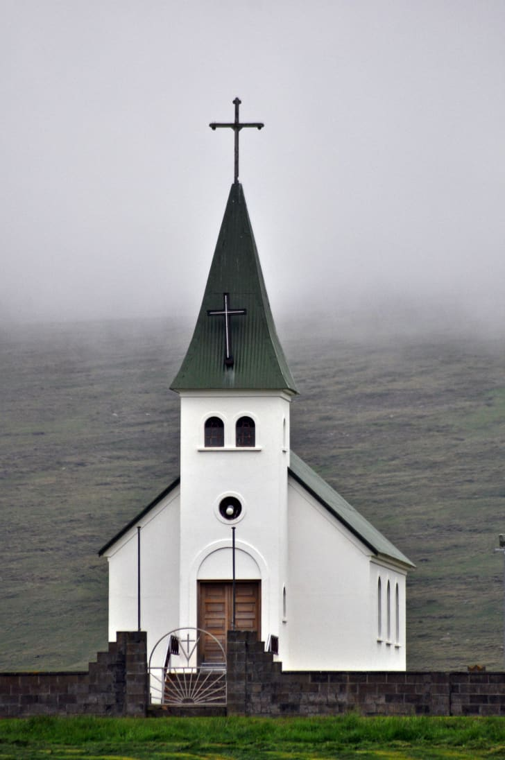 The church in Tjörn, Iceland, where Agnes Magnusdottír is buried