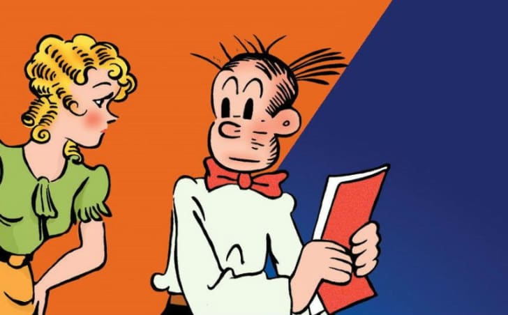 An illustration of Blondie and Dagwood Bumstead of 'Blondie' comics fame