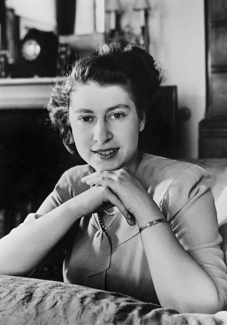 Princess Elizabeth just before her 21st birthday in April 1947.