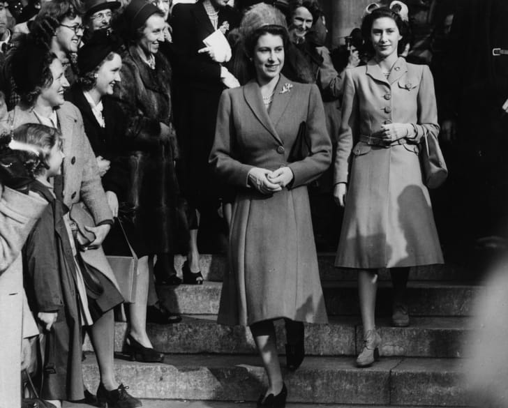 Princesses Elizabeth and Margaret in 1947.