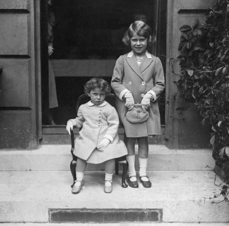 Princesses Margaret and Elizabeth in 1933.
