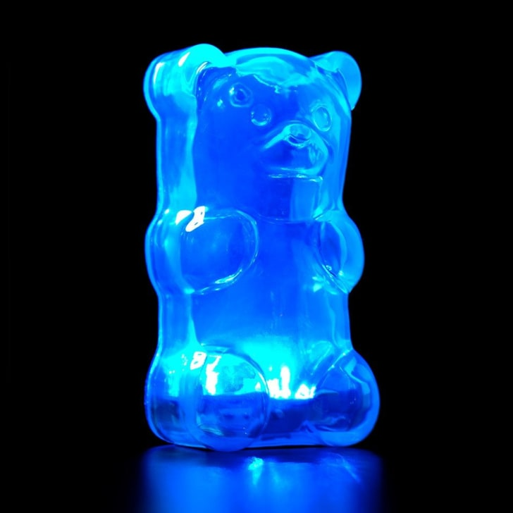 Gummygoods Squeezable Gummy Bear Night Light, Portable with 60 Minute Sleep Timer, Blue
