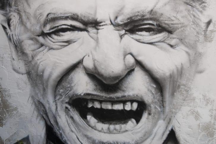 Painting of Charles Bukowski