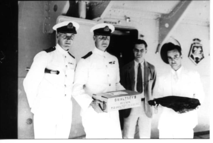 Ham on battleship