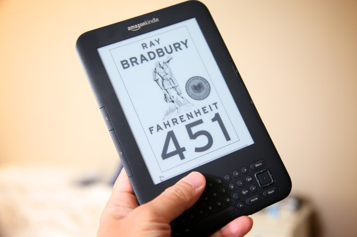Fahrenheit 451 e-book on the Kindle