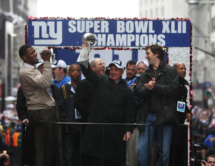 Giants Super Bowl XLII victory parade