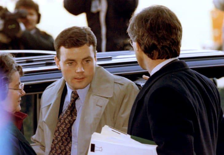 John Wayne Bobbitt arrives for a court appearance in 1994